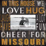 """Missouri Tigers In This House 10"""" x 10"""" Picture Frame"""