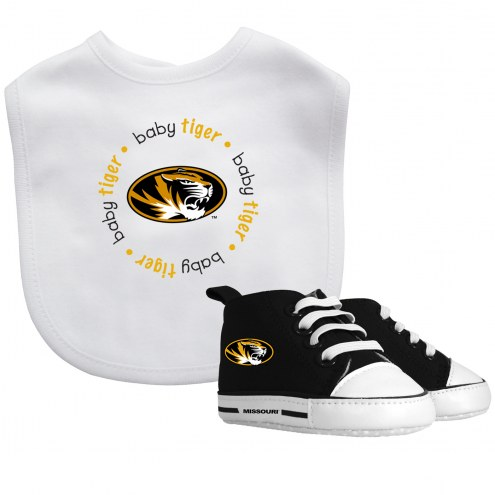 Missouri Tigers Infant Bib & Shoes Gift Set