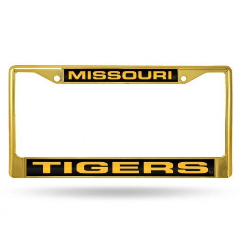 Missouri Tigers Laser Colored Chrome License Plate Frame