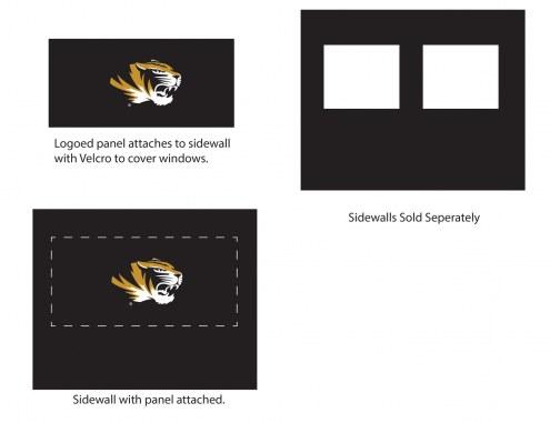 Missouri Tigers Logo Canopy Sidewall Panel (Attaches to Window Sidewall)