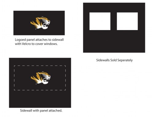Missouri Tigers Logo Canopy Sidewall Panel (Attaches to Window Sidewall)