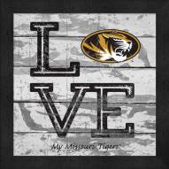 Missouri Tigers Love My Team Square Wall Decor