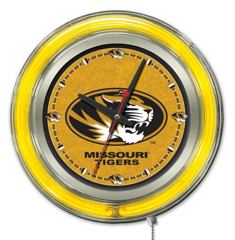 Missouri Tigers Neon Clock