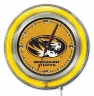 Missouri Tigers Neon Clock