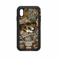 Missouri Tigers OtterBox iPhone XS Max Defender Realtree Camo Case