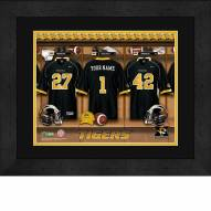 Missouri Tigers Personalized Locker Room 13 x 16 Framed Photograph