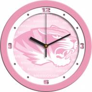 Missouri Tigers Pink Wall Clock