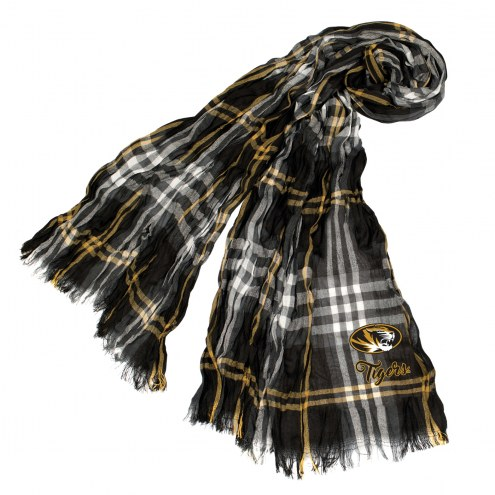 Missouri Tigers Plaid Crinkle Scarf