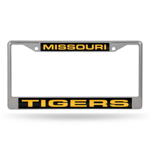Missouri Tigers Laser Chrome License Plate Frame