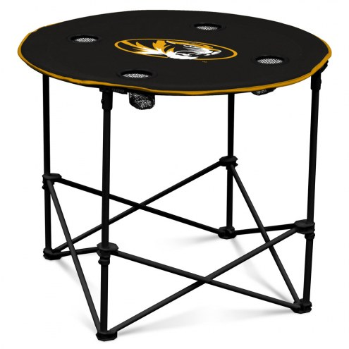 Missouri Tigers Round Folding Table