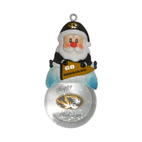 Missouri Tigers Santa Snow Globe Ornament