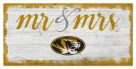 Missouri Tigers Script Mr. & Mrs. Sign