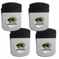 Missouri Tigers 4 Pack Chip Clip Magnet with Bottle Opener