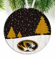 Missouri Tigers Snow Scene Ornament