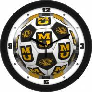 Missouri Tigers Soccer Wall Clock
