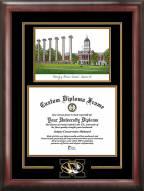 Missouri Tigers Spirit Diploma Frame with Campus Image