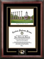 Missouri Tigers Spirit Diploma Frame with Campus Image
