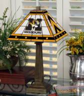 Missouri Tigers Stained Glass Mission Table Lamp