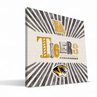 Missouri Tigers State Canvas Print