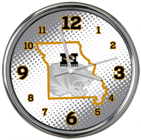 Missouri Tigers State of Mind Chrome Clock