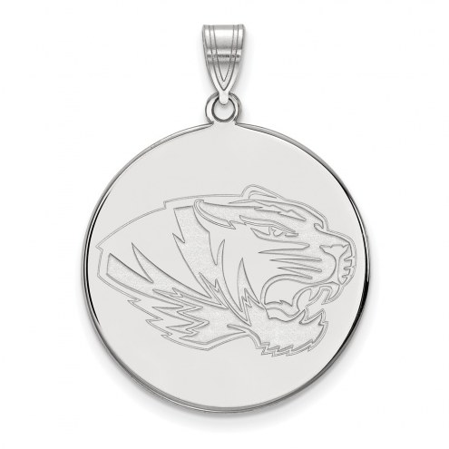 Missouri Tigers Sterling Silver Extra Large Disc Pendant