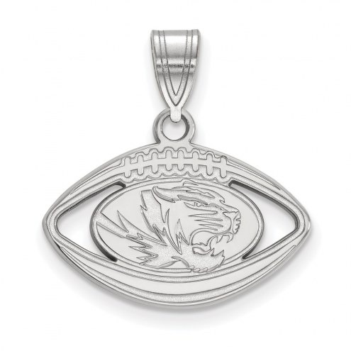 Missouri Tigers Sterling Silver Football Pendant
