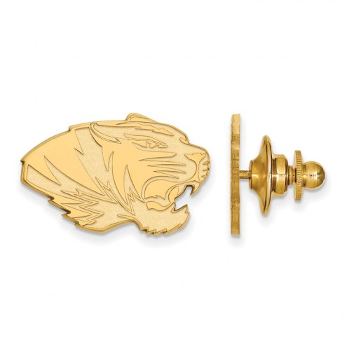 Missouri Tigers Sterling Silver Gold Plated Lapel Pin
