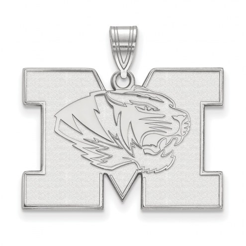Missouri Tigers Sterling Silver Large Pendant
