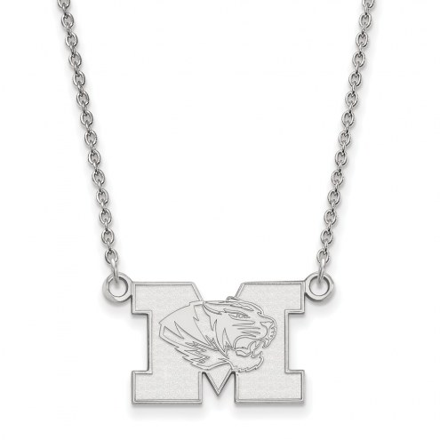 Missouri Tigers Sterling Silver Small Pendant Necklace