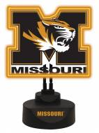 Missouri Tigers Team Logo Neon Light