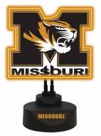 Missouri Tigers Team Logo Neon Light