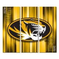 Missouri Tigers Triptych Rush Canvas Wall Art
