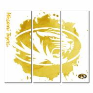 Missouri Tigers Triptych Watercolor Canvas Wall Art