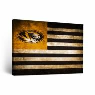 Missouri Tigers Vintage Flag Canvas Wall Art