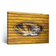 Missouri Tigers Weathered Canvas Wall Art