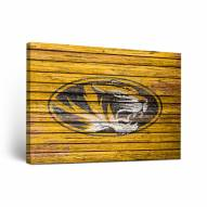 Missouri Tigers Weathered Canvas Wall Art