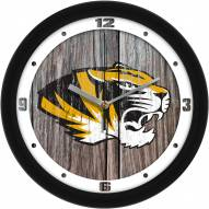 Missouri Tigers Weathered Wood Wall Clock