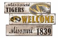 Missouri Tigers Welcome 3 Plank Sign