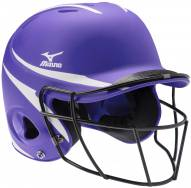 Mizuno MBH252 MVP Women's Fastpitch 2-Tone Batting Helmet with Facemask - L/XL