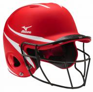 Mizuno MBH252 MVP Women's Fastpitch 2-Tone Batting Helmet with Facemask - S/M