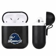Monmouth Hawks Fan Brander Apple Air Pods Leather Case