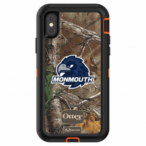 Monmouth Hawks OtterBox iPhone X Defender Realtree Camo Case