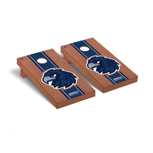 Monmouth Hawks Rosewood Stained Stripe Cornhole Game Set