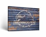 Monmouth Hawks Weathered Canvas Wall Art