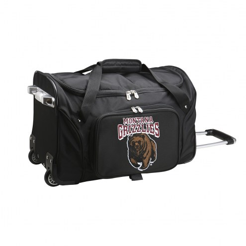 """Montana Grizzlies 22"""" Rolling Duffle Bag"""