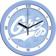 Montana Grizzlies Baby Blue Wall Clock