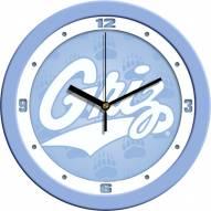 Montana Grizzlies Baby Blue Wall Clock