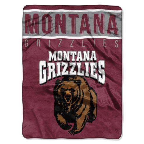 Montana Grizzlies Basic Plush Raschel Blanket