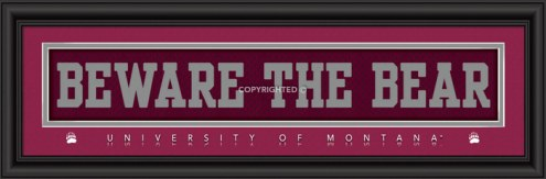 """Montana Grizzlies """"Beware The Bear"""" Stitched Jersey Framed Print"""