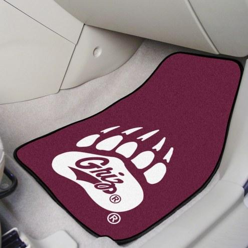 Montana Grizzlies Black 2-Piece Carpet Car Mats